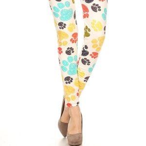 9eeb0fee13a8e Leggings Depot Pants - Leggings Depot Paw Print Buttery Soft